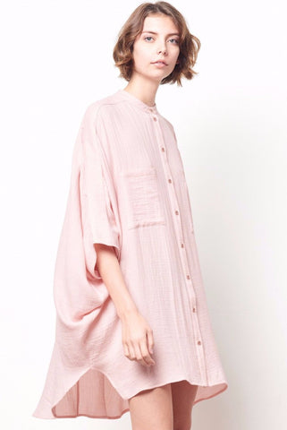 TISDALE Drapy Shirt Dress with Back Keyhole