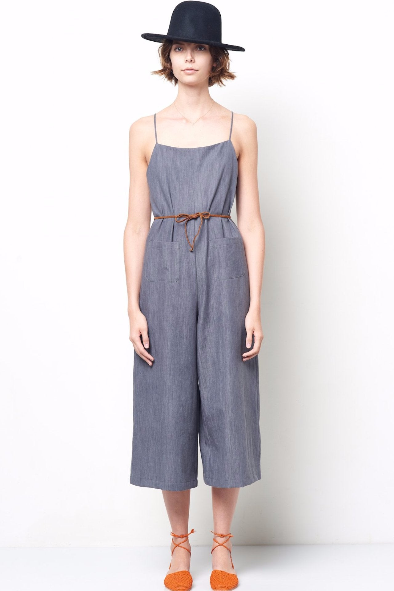 dea01e29d MARGO Light Denim Spaghetti Strap Wide Leg Jumpsuit – CLC by Corey Lynn  Calter
