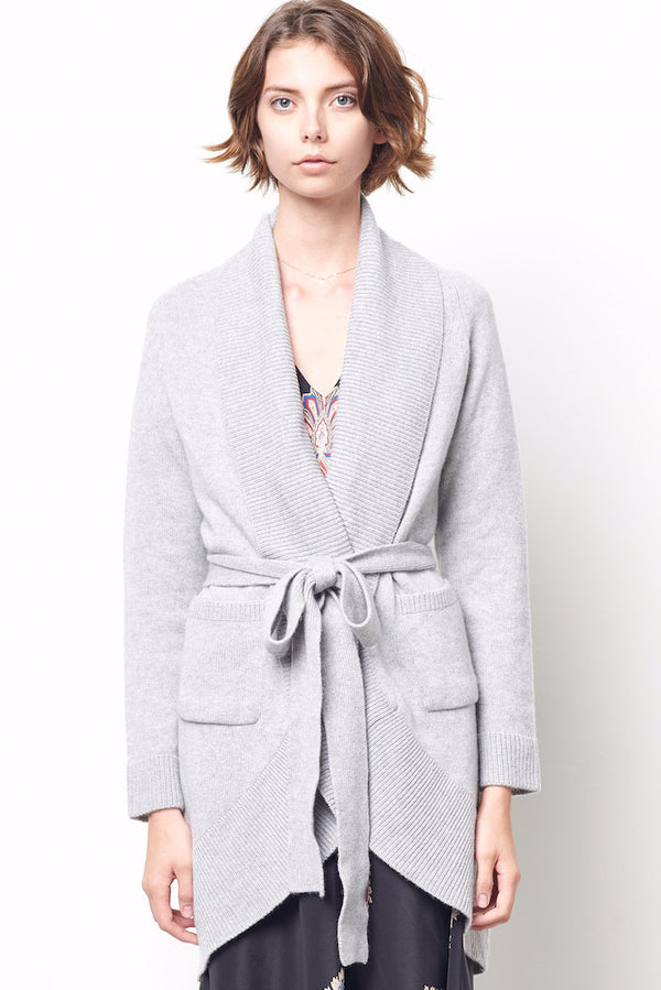 LEILA Wrap Cashmere Cocoon Sweater