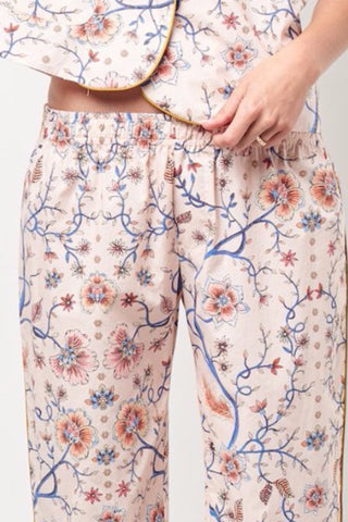 ARIANNA Classic PJ Style Cropped Pant - Pink Floral