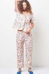 ARIANNA Classic Short Sleeve Cropped Set Pink Floral