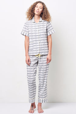 ARIANNA Classic Short Sleeve Cropped Set in Jacquard