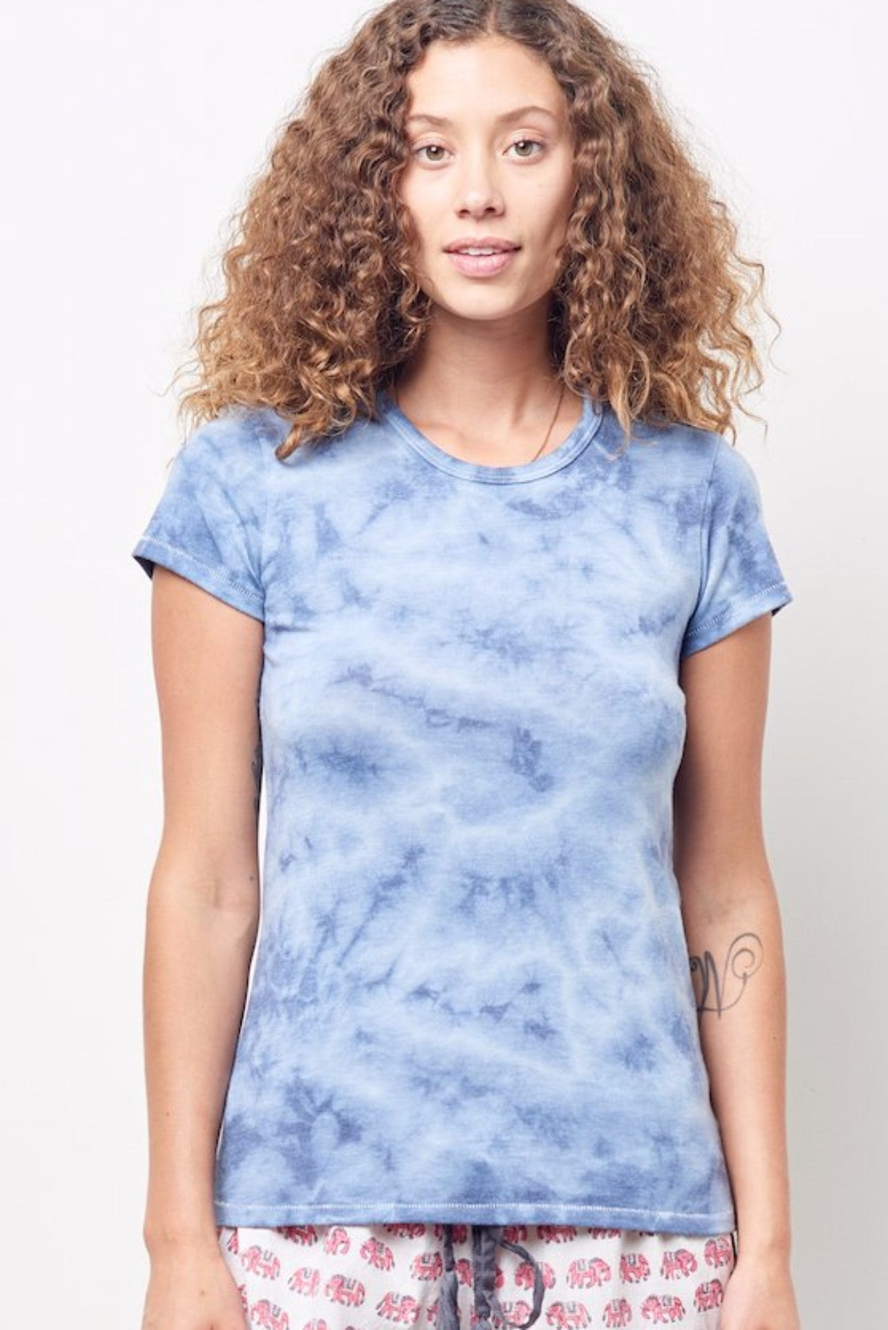 51dfdc4332db TAMMY Crew Neck Tee with Cloud Wash – CLC by Corey Lynn Calter