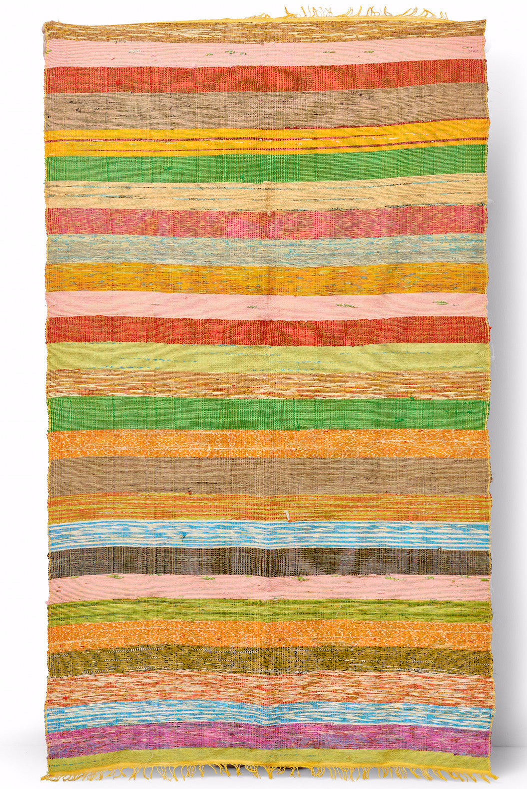 Striped Handmade Throw Rug or Blanket