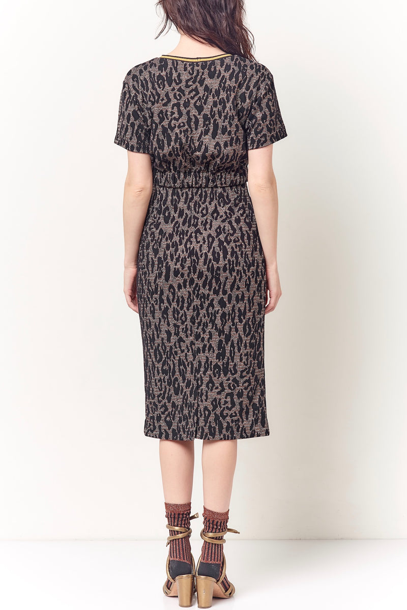 ZOLA Leopard Spot Pencil Skirt