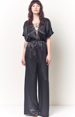 MALA Lace Up Jumpsuit - Solid
