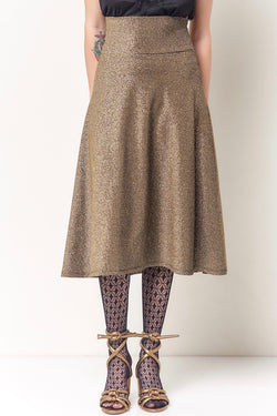 TONI Yoked Circle Knit Skirt