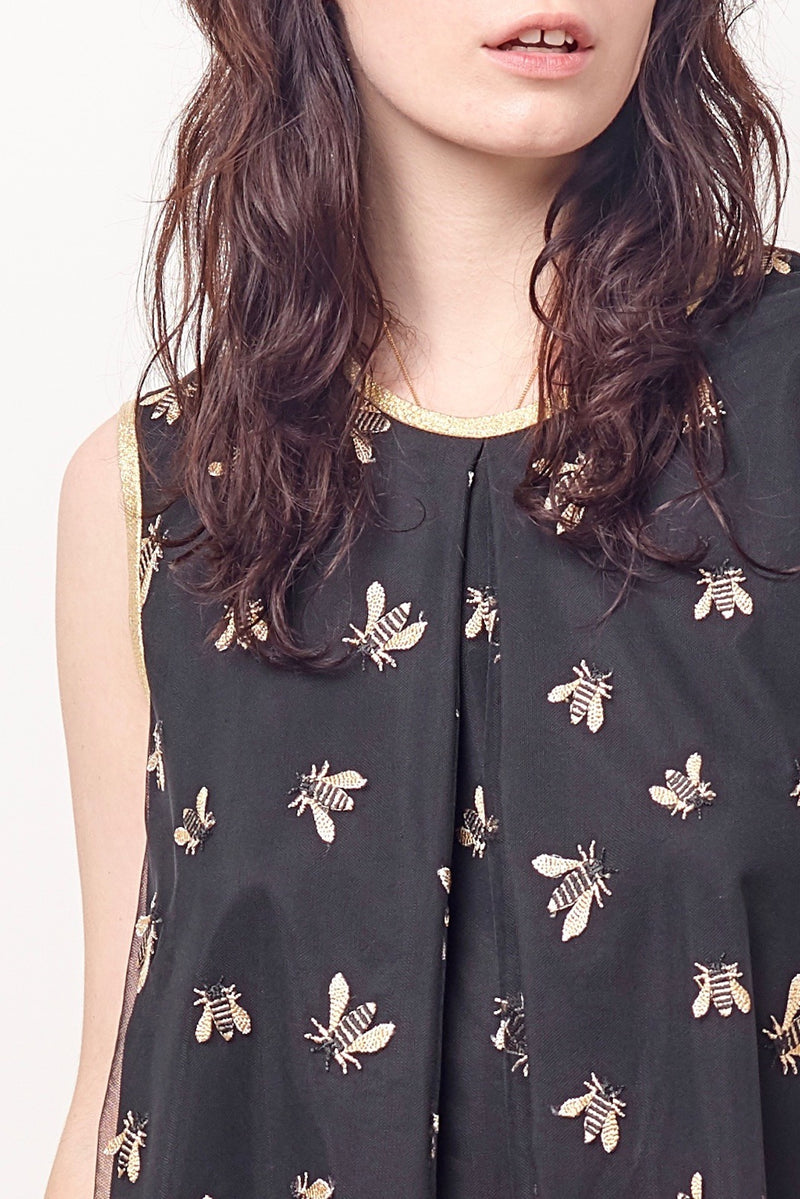 SUZIE Trapeze Dress - Bees