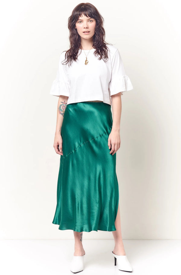 DEE Seamed Bias Skirt - Solid