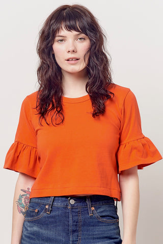 SANDRA Top w/Ruffle Sleeve