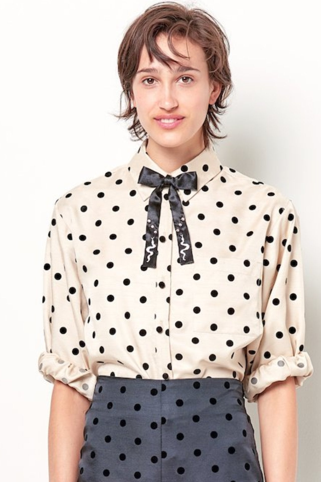 6eaa38a9d CATRIONA Button Down Shirt - Dot – CLC by Corey Lynn Calter