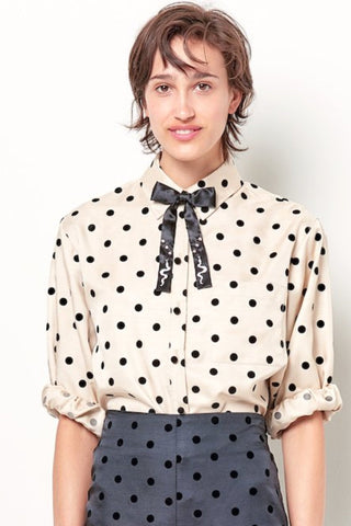 JULIA Ruffle Bib Mini Shift - Dot