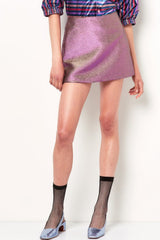 SYLVIE Mini Skirt -Purple/Gold