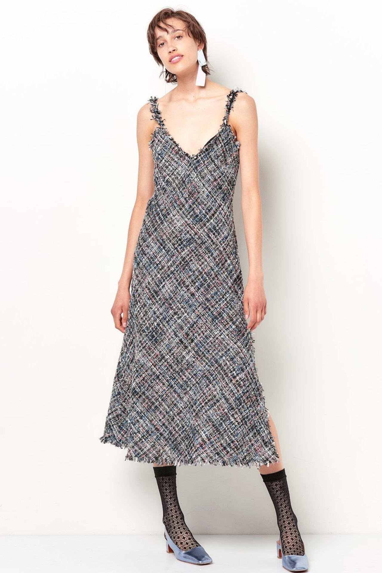 ANA Slip Dress - Tweed