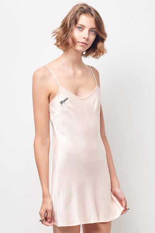 "SHANA rayon slip dress with ""MAMA"" embroidery"
