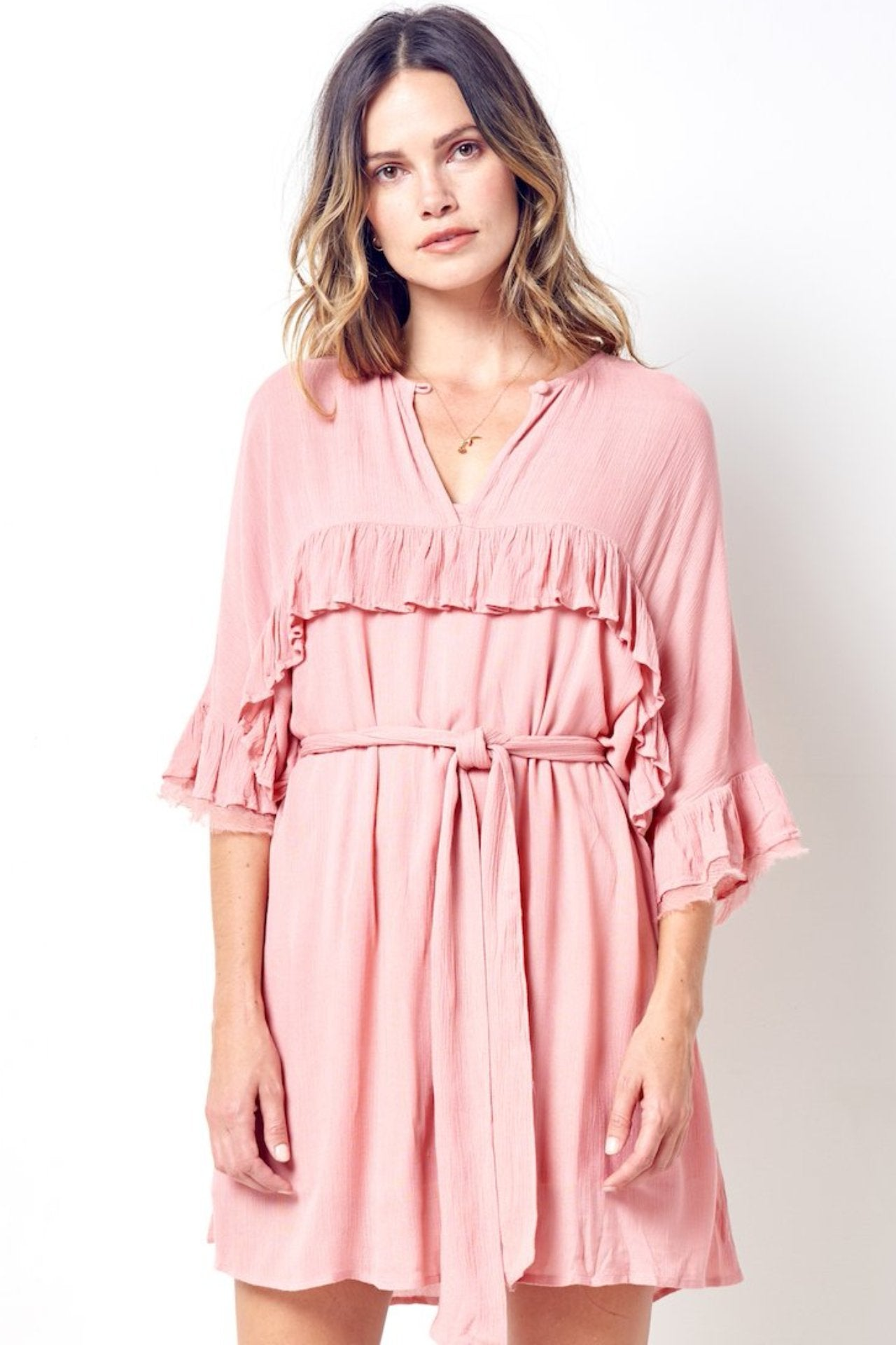 OLIVIA Prairie Dress with Ruffles and Tie