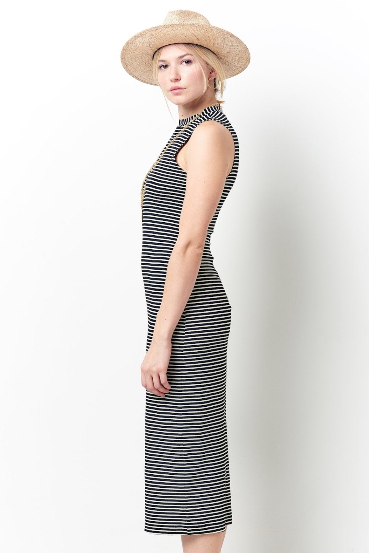 TERESA Pencil Dress in Stripe