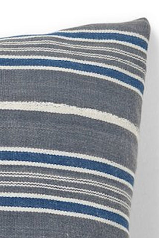 African Indigo Stripe Square Pillow