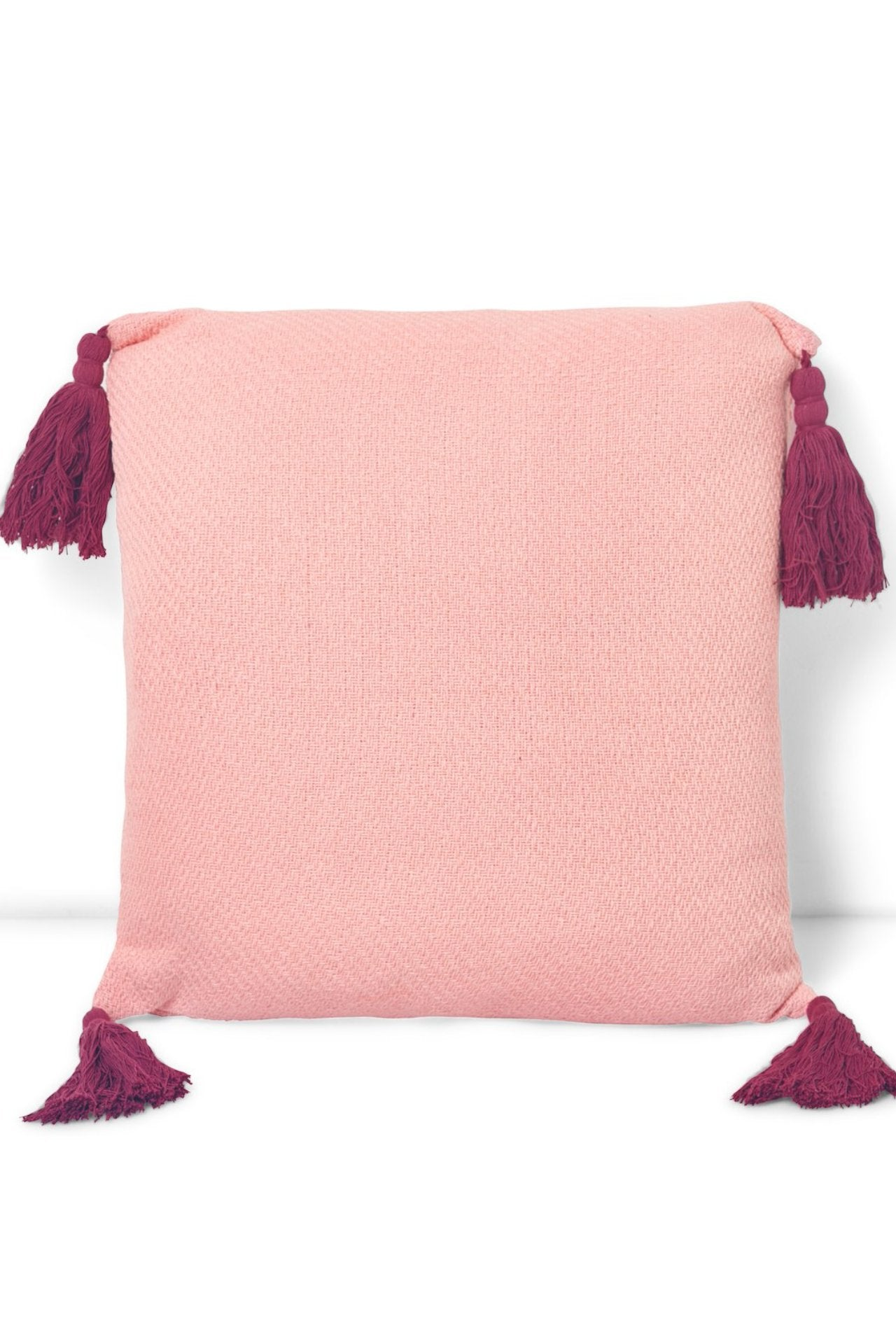 Tassel Corner Square Pillow