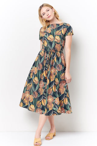 GRACE Ruffle Hem Slip Dress- Floral