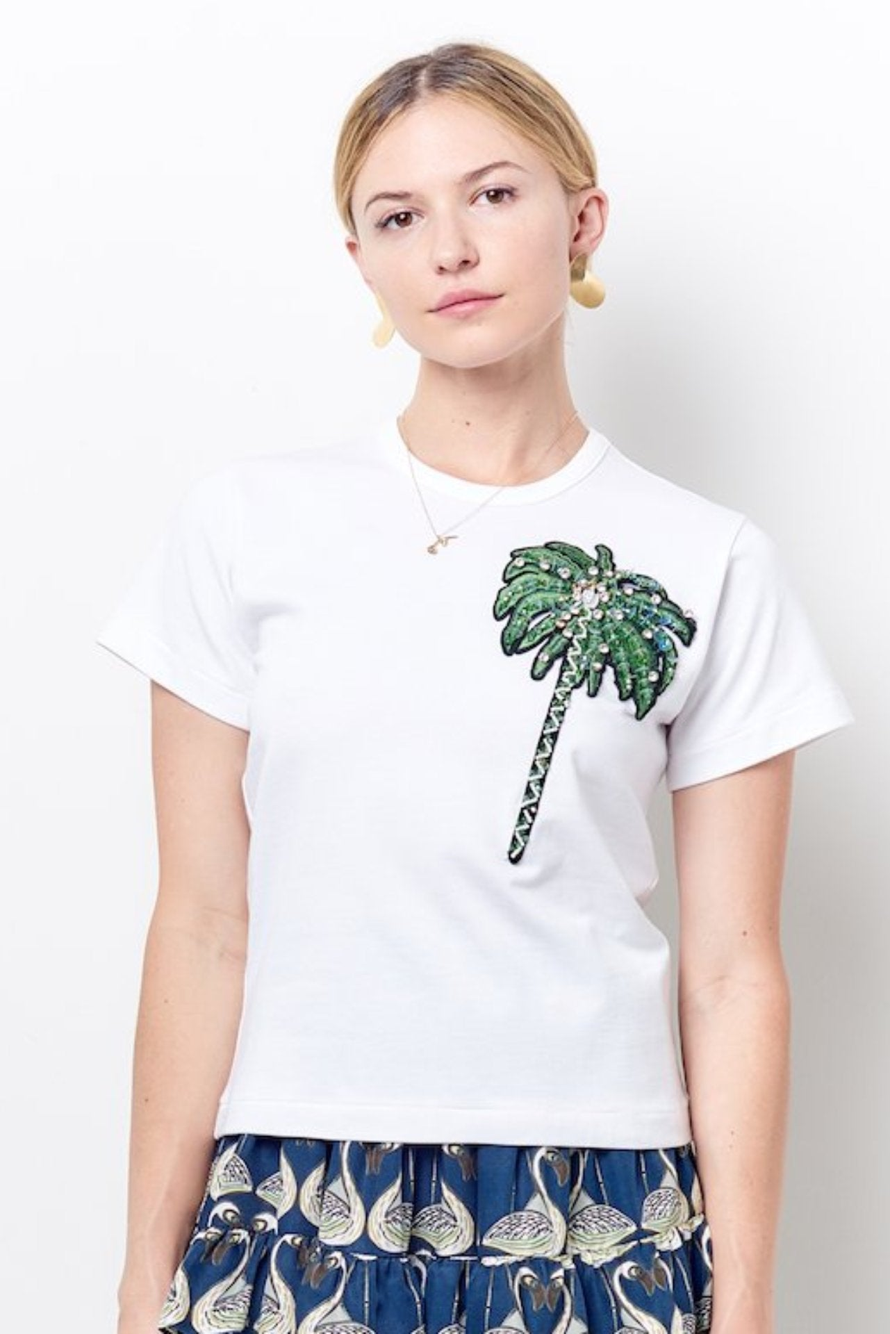 MOLLY Crew Neck Tee with Palm Tree