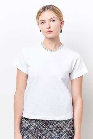 MELINDA Vneck Cropped Jumpsiut - Liquid