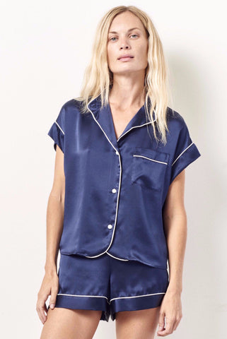 KACEY Silk short sleeve tap set MIDNIGHT