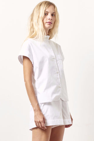 KACEY Cotton classic short sleeve tap set WHITE
