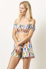 TILDA ikat crop top and short set