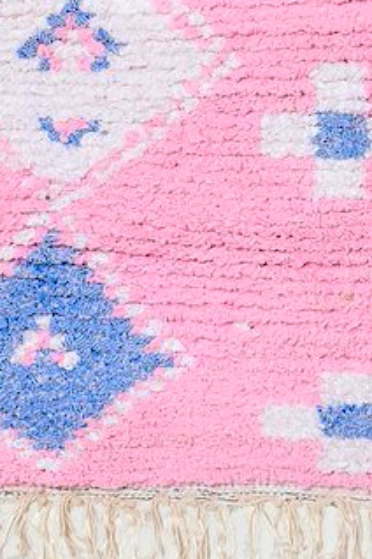 Boucherouite Pastel Small Pink Rug 4x3