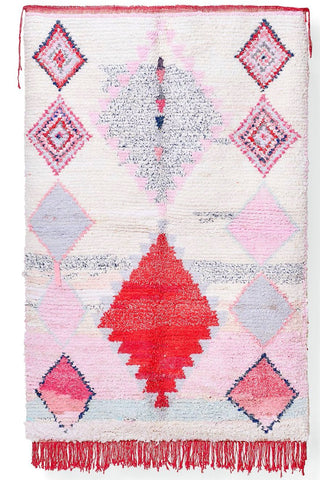 Copy of Copy of Boucherouite Red Toned Rug 6x4.5
