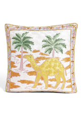 Embroidered Camel Pillow