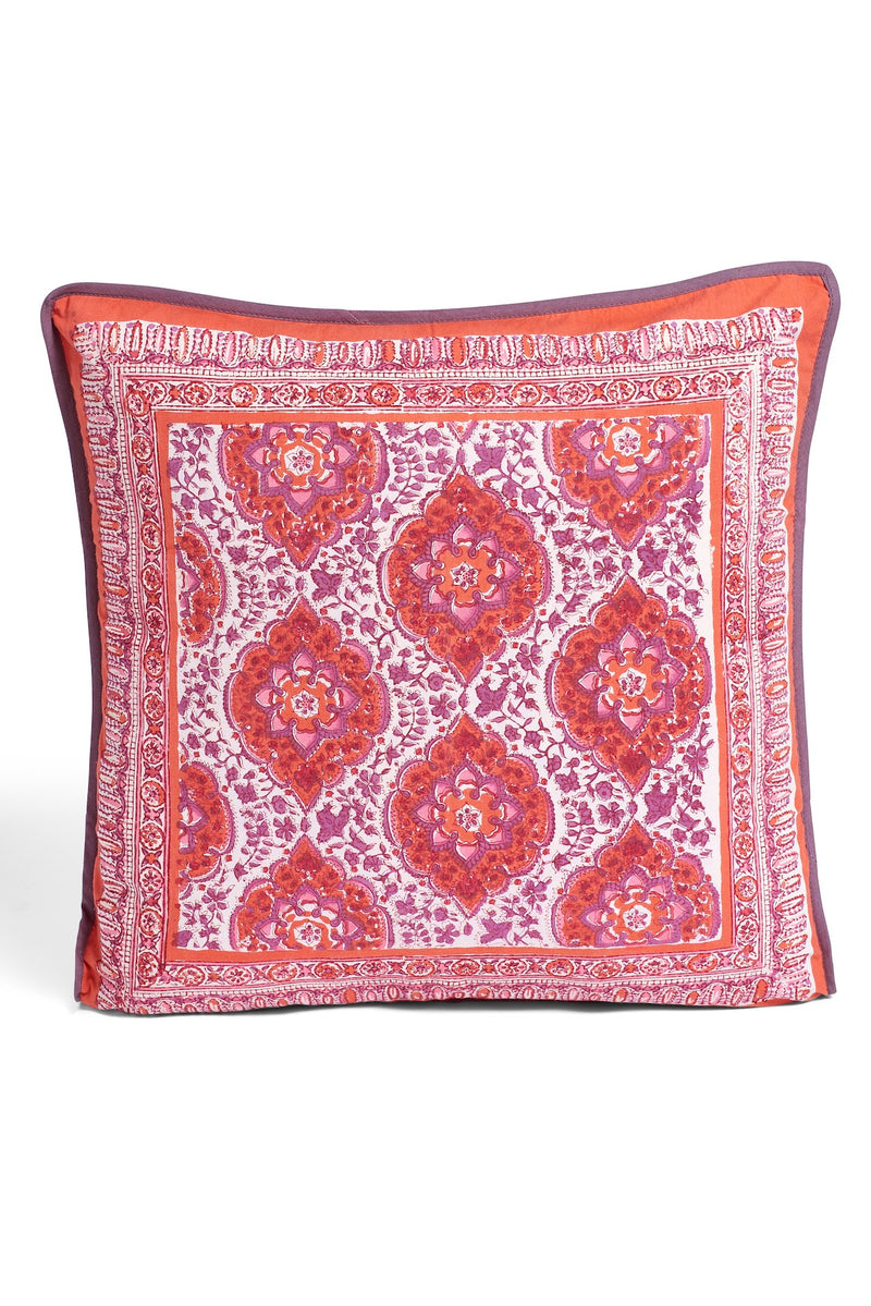 Block Printed Pillow - Orange
