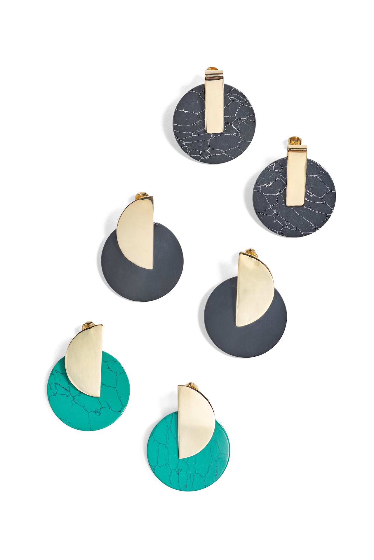 Jardin Orient Disk Earrings