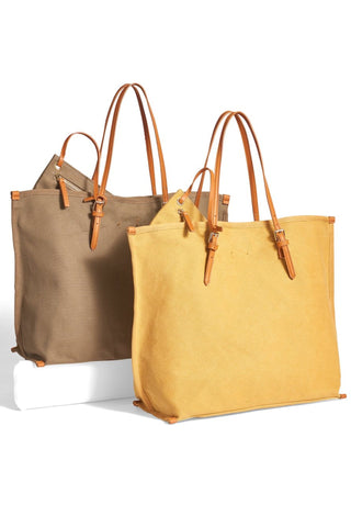 Reversible Metallic Leather Tote Bag