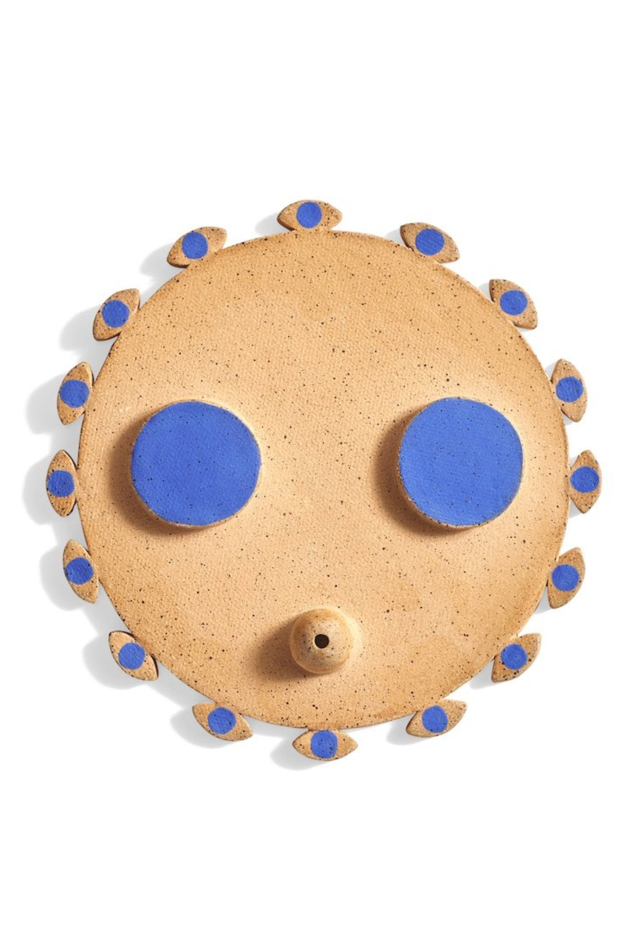 Meha Ceramics Exclusive Ocean Blue Evil Eye Toker Incense Holder