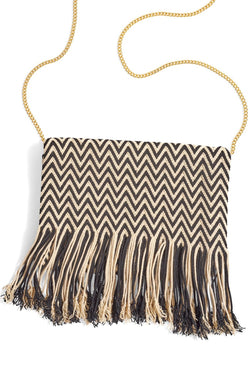 Chila Woven Fringed Bag