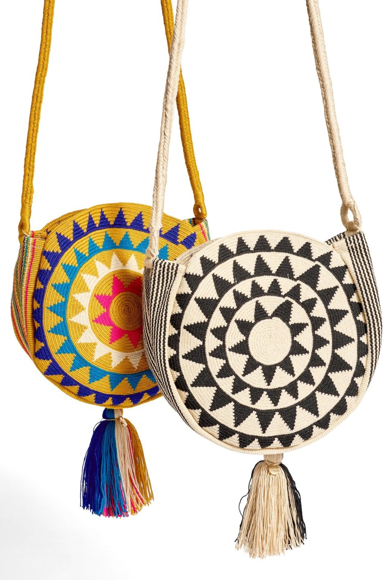 Chila Woven Disk Cross Body Bag