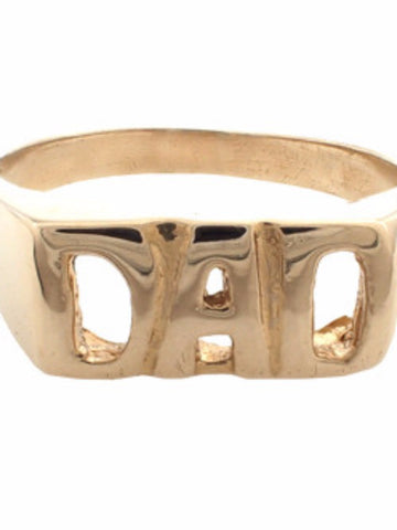 "IGWT ""DAD"" Gold Ring"