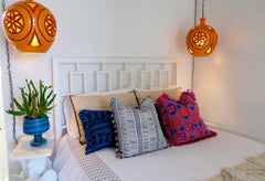 Geo Pillow with Fringe Frame