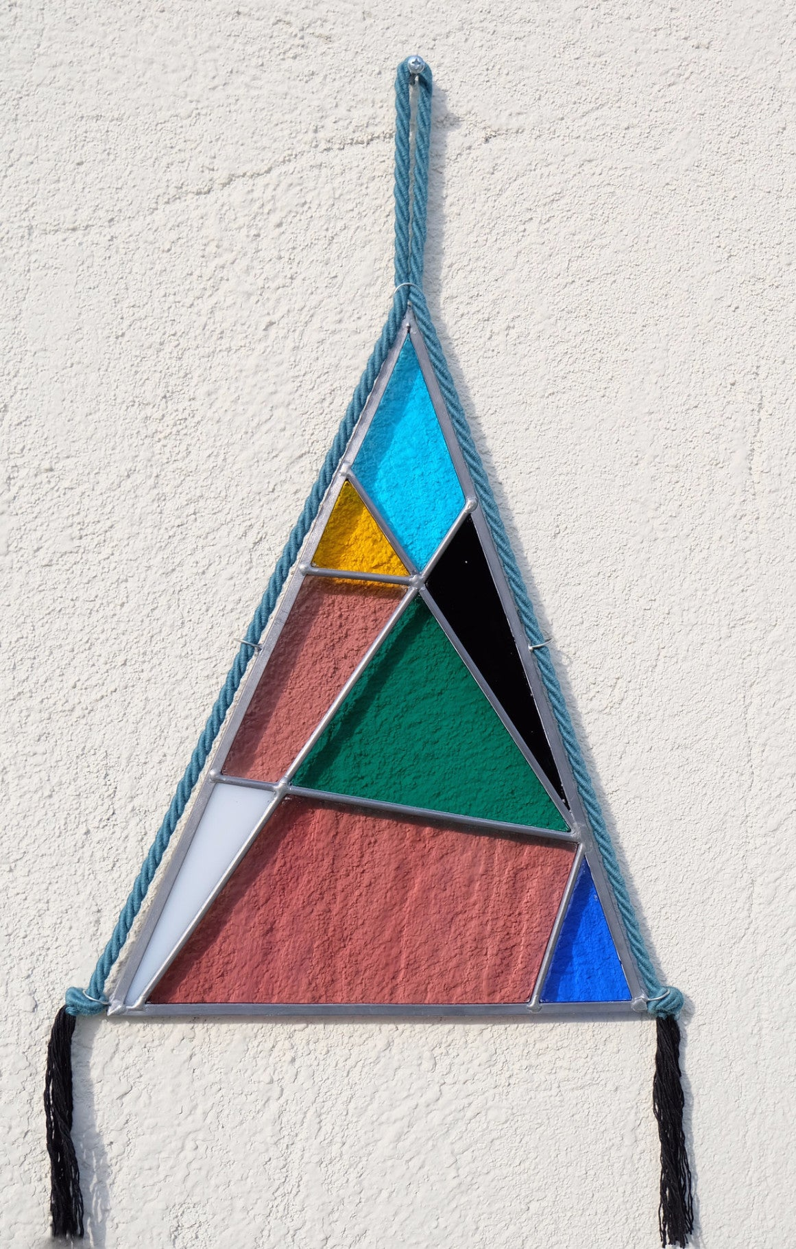 Color Blocked Stained Glass Pyramid