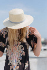 LEXA Palm Straw Bolero Hat in Natural