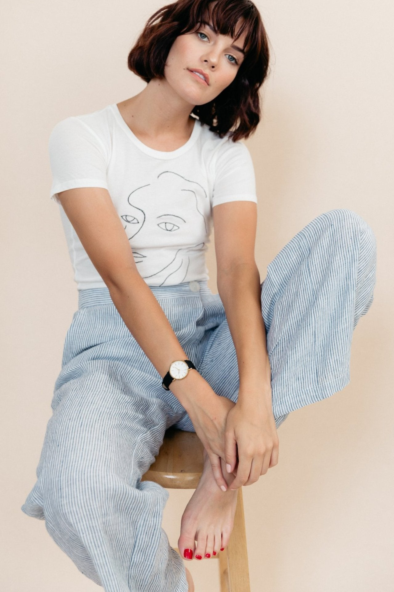 White casual t-shirt