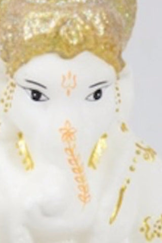 Large Ganesh Ornament- White