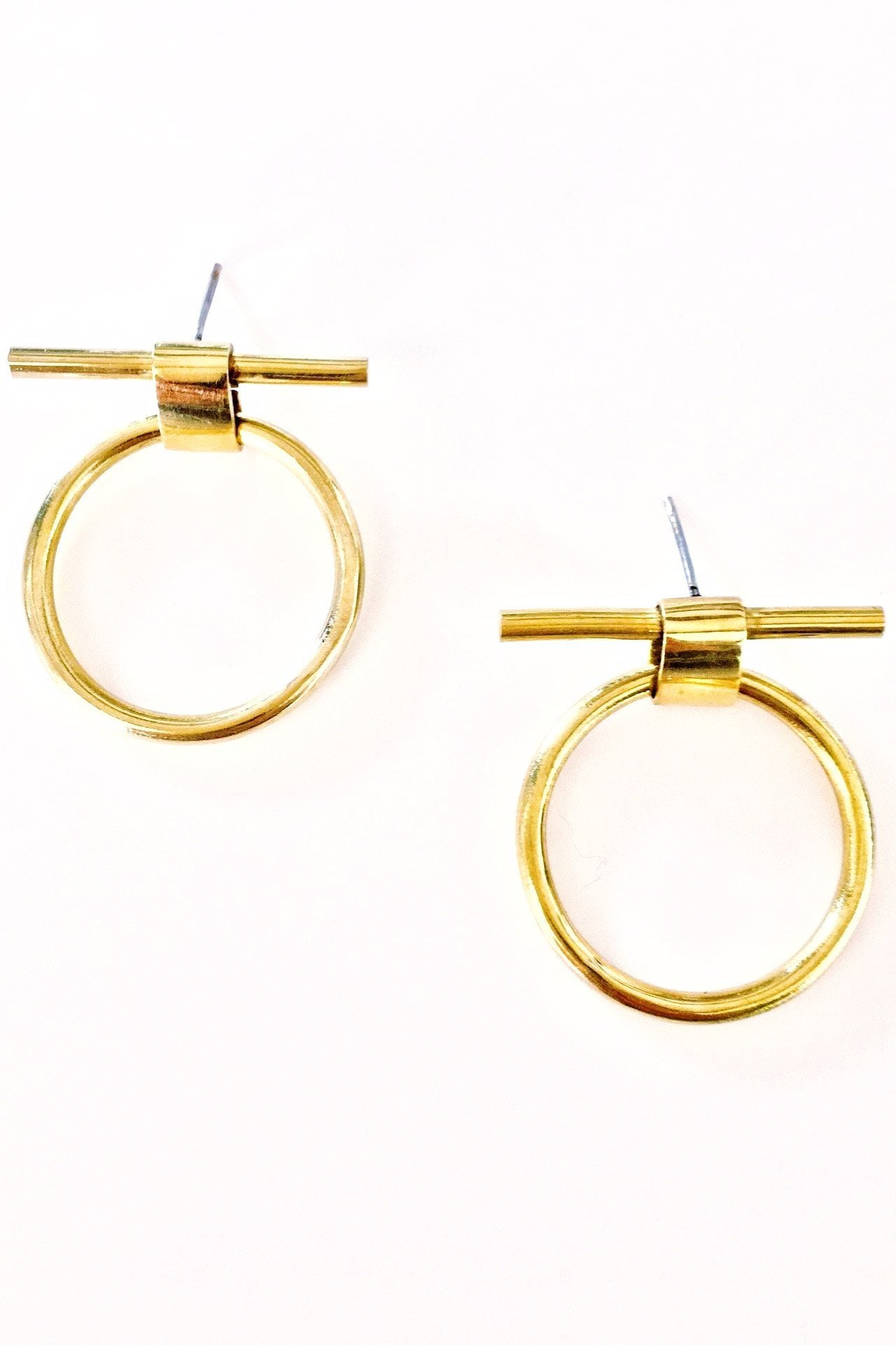 en circle open happiness boutique earrings gold stud