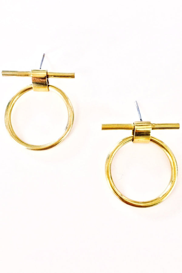 Isle Circle Bar Stud Earring