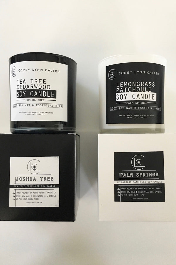 EXCLUSIVE CLC & MRN Hand Poured Essential Oil Soy Candles