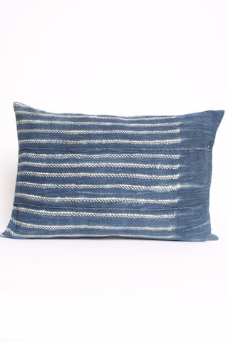 "Indigo Dyed 14""x24"" Rectangle Pillow"