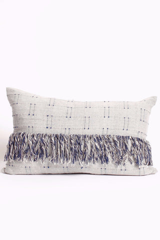 Fringe and Handwoven Lumbar pillow