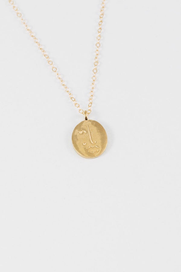 MATISSE Pendant and Chain- Gold